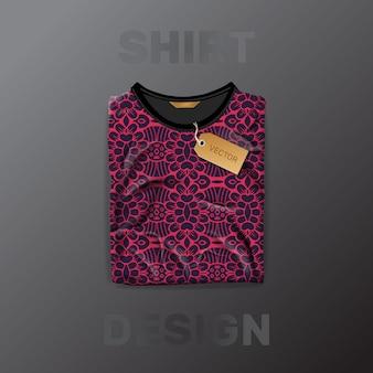 Шаблон рубашки бесшовные