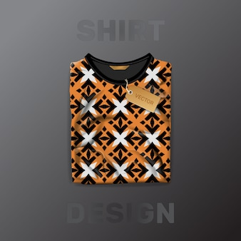 Shirt pattern template