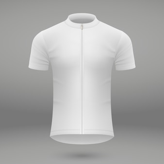 Shirt template for cycling jersey