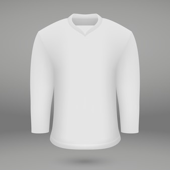 Shirt template for ice hoskey jersey