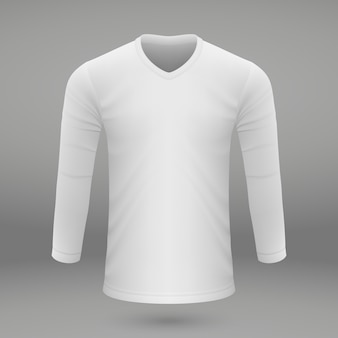 Shirt template for jersey.