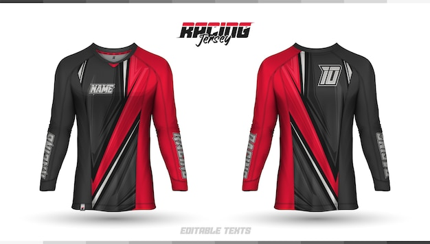 Shirt template, racing jersey design, soccer jersey