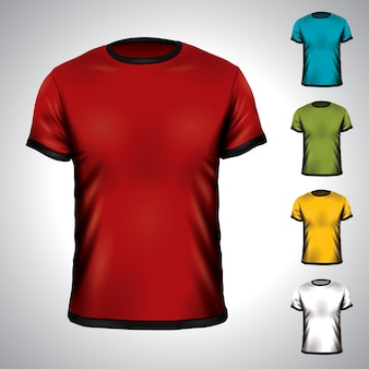 T Shirt Template Vectors Photos And PSD Files