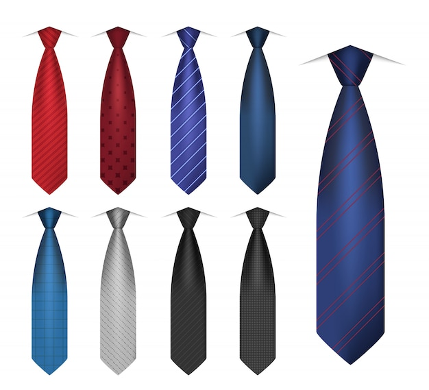 Shirt tie icon set