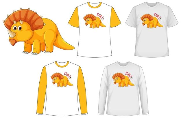 Рубашка с динозавром мультипликационный персонаж