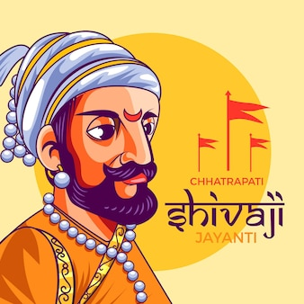 Evento shivaji jayanti illustrato