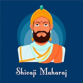 Shivaji maharaj illustration concept