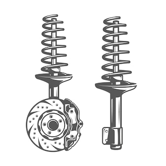 Shock absorber isolated on white