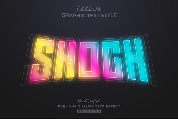 Shock gradient neon editable premium text style effect