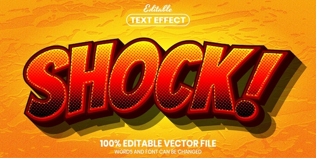 Shock text, font style editable text effect