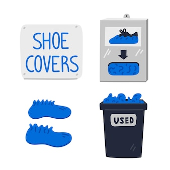 Shoe covers.