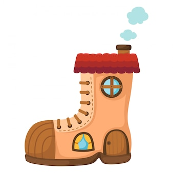 Shoe house.vector