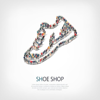 Иллюстрация значок обуви