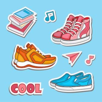 Shoe sticker design