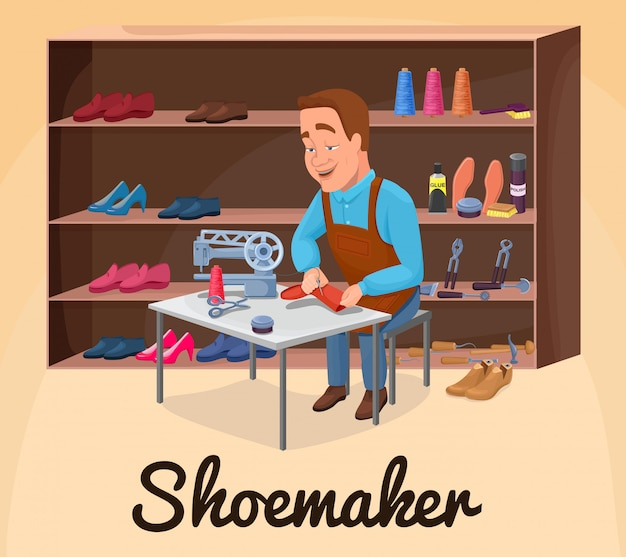 Shoemaker cartoon character