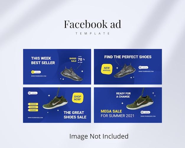 Шаблон рекламы в facebook для обуви