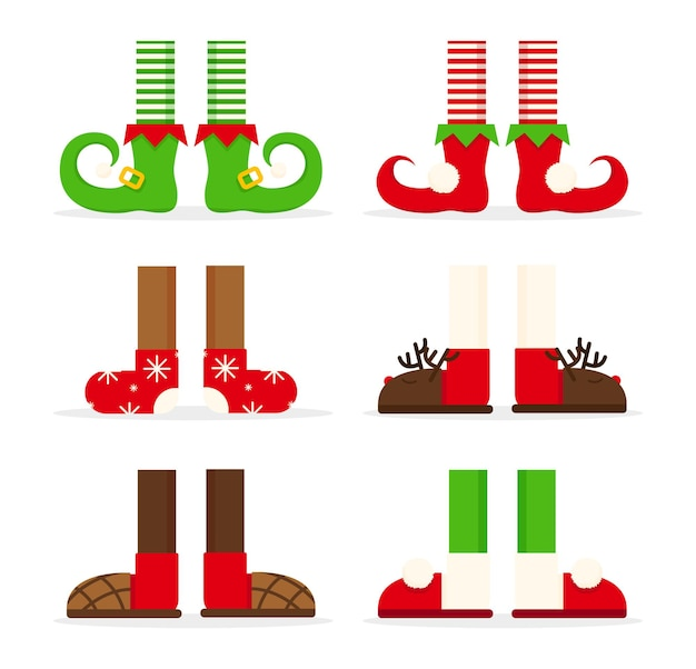 Shoes feet for christmas