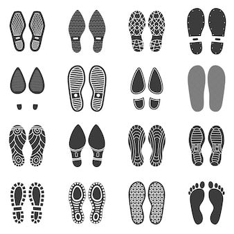 Shoes footprint set