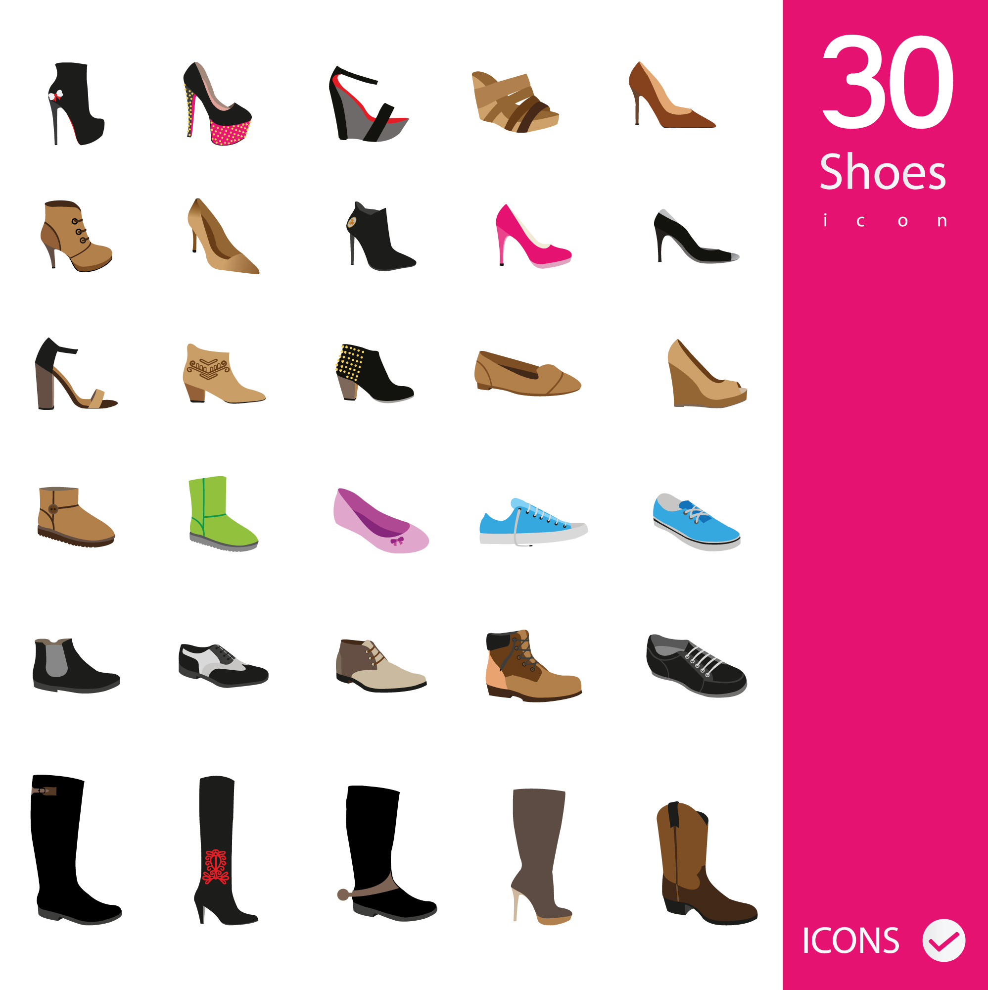 Shoes icons collection