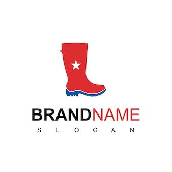 Обувь дизайн логотипа вдохновение человек загрузки символ
