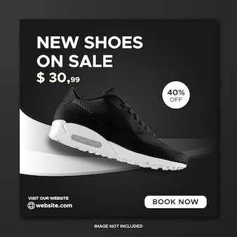 Shoes promotion social media instagram post banner template