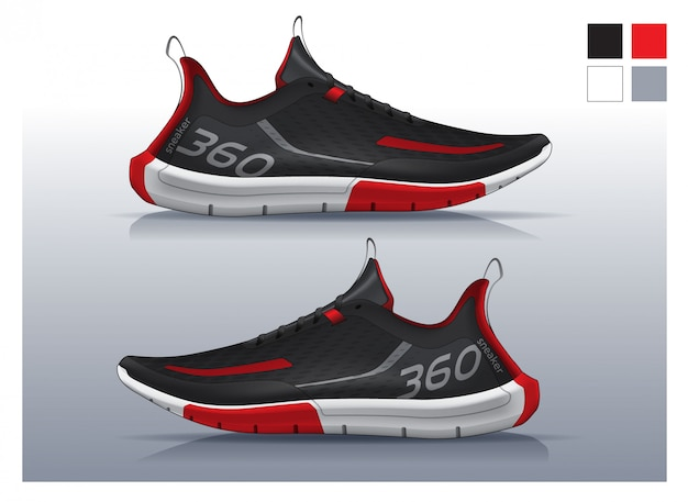 Shoes for running, sneakers design