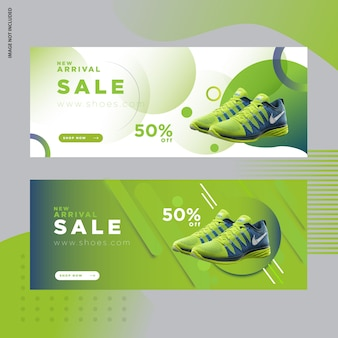 Shoes social media post banner template