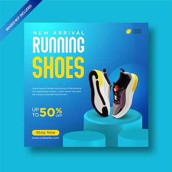 Shoes special collection product sale social media post template premium