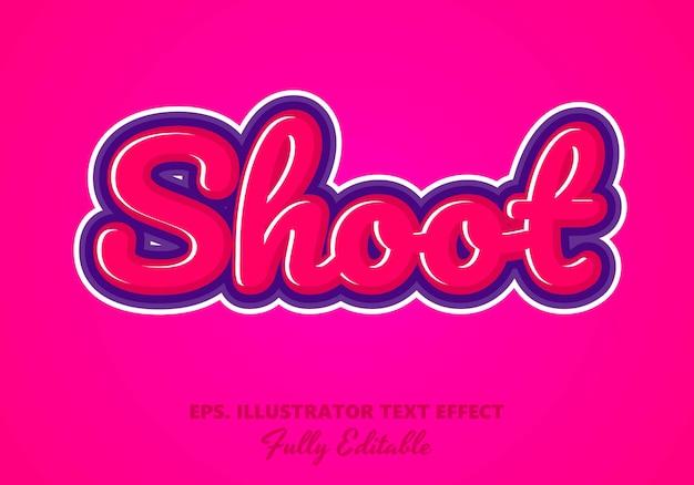 Shoot  editable text effect