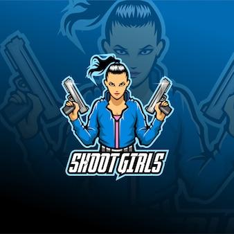 Shoot girl mascot