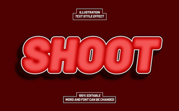 Shoot text style effect