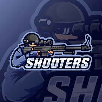 Shooters mascot esport logo
