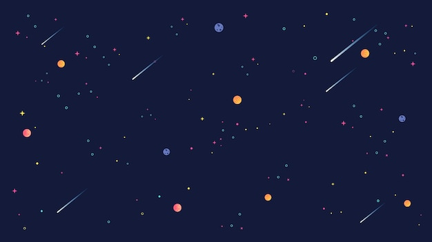 Shooting star and star universe background illustration