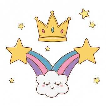 Shooting stars and crown