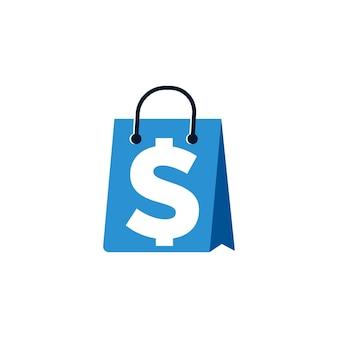 Shop bag icon logo design template