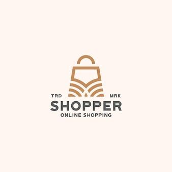 Магазин сумка логотип шаблон