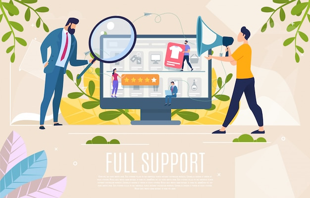 Shop customers support web banner