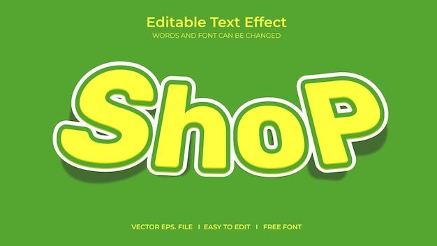Shop illustrator editable text effect template design