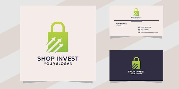 Shop invest logo template