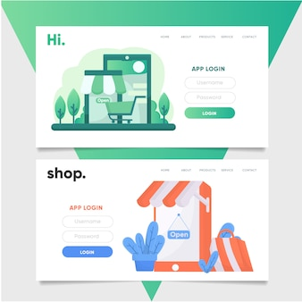 Shop landing page template
