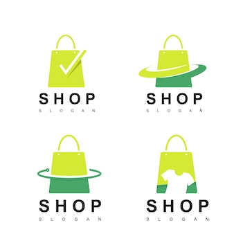 Shop logo set