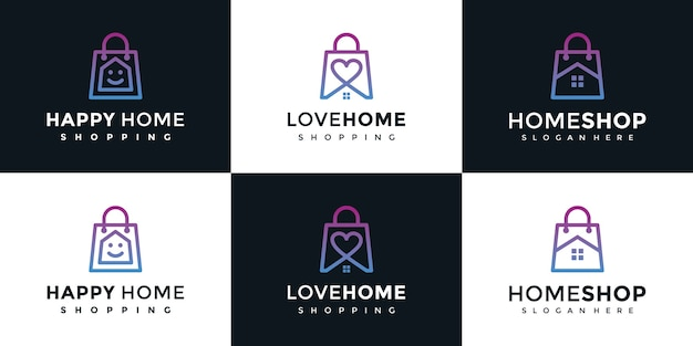 Shop logo template set