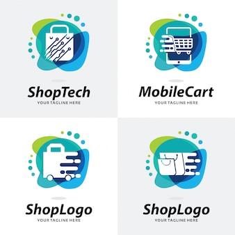 Коллекция shop logo шаблон дизайна