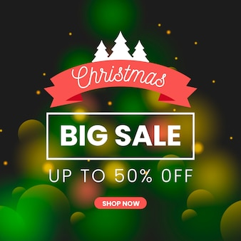 Shop now blurred christmas sale