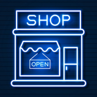 Shop now neon sign. ready for your design