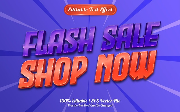 Shop now text effect template style