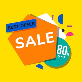 Shop promotion advertisement vector