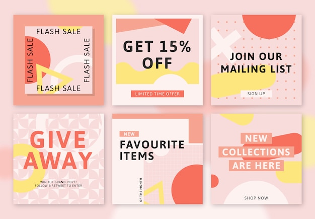 Shop sale promotion banner template vector