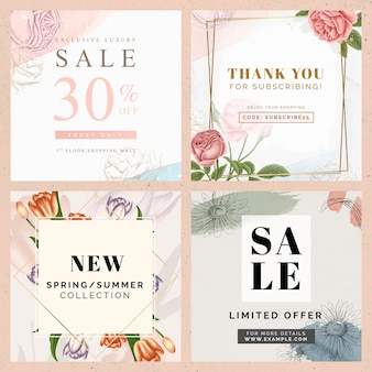 Shop sale template pack