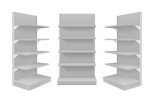 Иллюстрация полок магазина, изолированные на белом фоне
